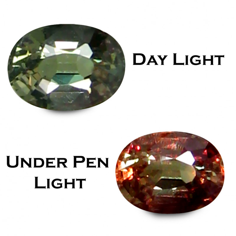 Alexandrite 0.35 Cts Green To Red Step cut BGC722