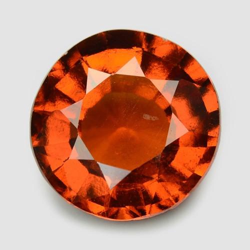 3.70 Cts Orange Red Color Natural Hessonite Garnet Gemstone