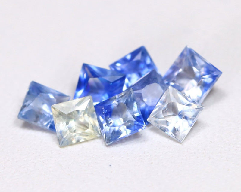 2.02Ct Princess Natural Untreated Fancy Color Sapphire Lot B5014
