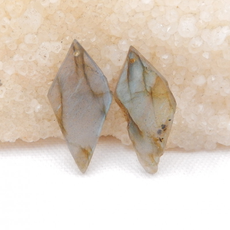 26.5cts Natural Labradorite Drilled Earrings Bead, stone for earrings makin