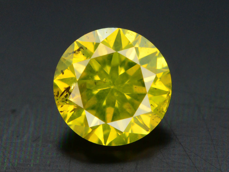 Yellow Diamond 0.50 ct Top Grade Brilliance SKU-25 tz