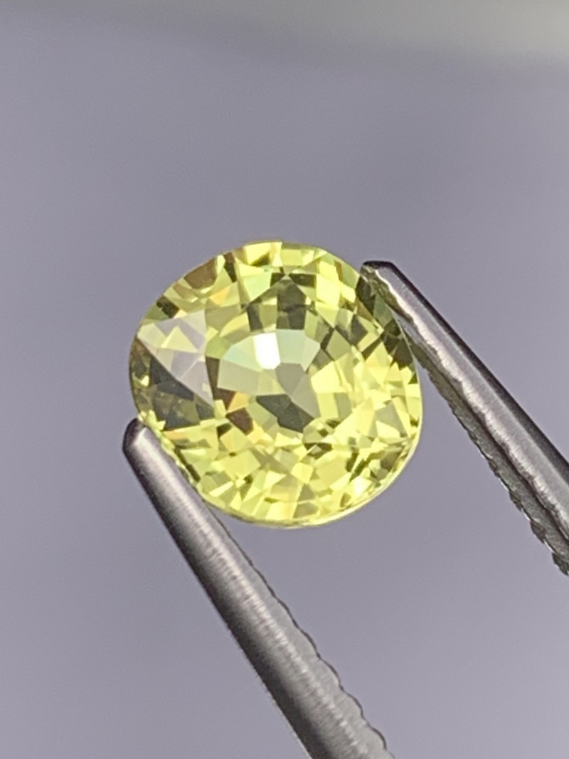 1.29 Cts Top Quality Excellent Luster Natural Pastel Yellow Sapphire