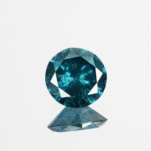 Fabulous!!!  0.23 Cts Natural Diamond Greenish Blue Round 4.10mm