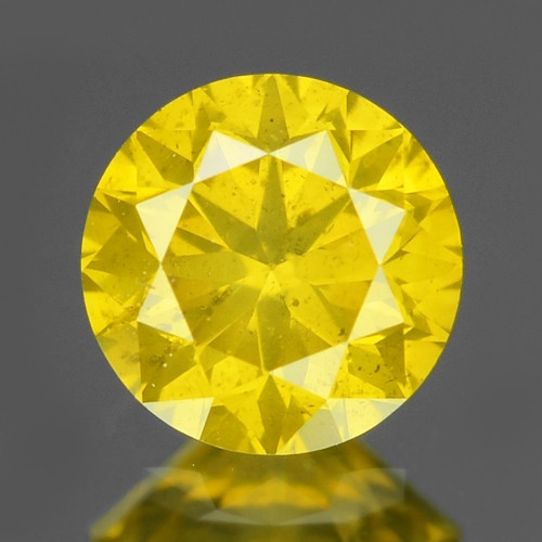 0.30 Cts Sparkling Rare Fancy Vivid Yellow Color Natural Loose Diamond
