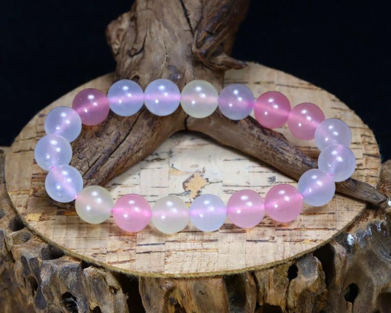 131.70Ct Natural Fancy Beryl Beads Bracelet B5205