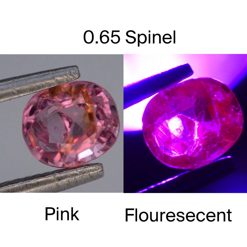 Top Cut 0.65 CT Dazzling Color Natural Florescent Spinel