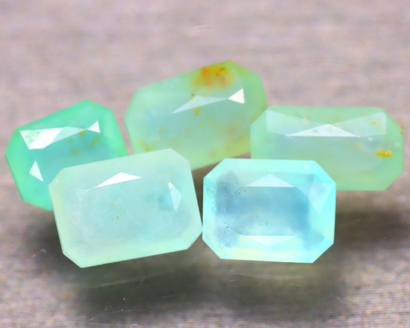 Paraiba Opal 4.30Ct 5Pcs Natural Peruvian Paraiba Color Opal EF1110/A2