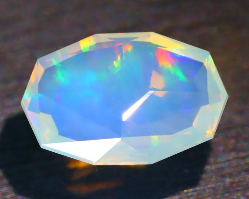 Welo Opal 2.58Ct Master Cut Natural Ethiopian Flash Color Welo Opal B5337