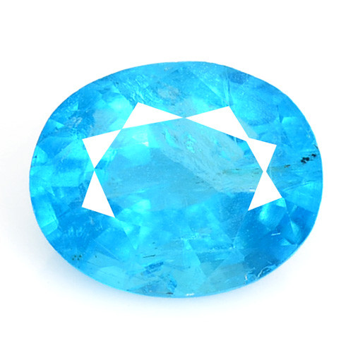 1.01 Cts Un Heated Natural Neon Blue Apatite Loose Gemstone