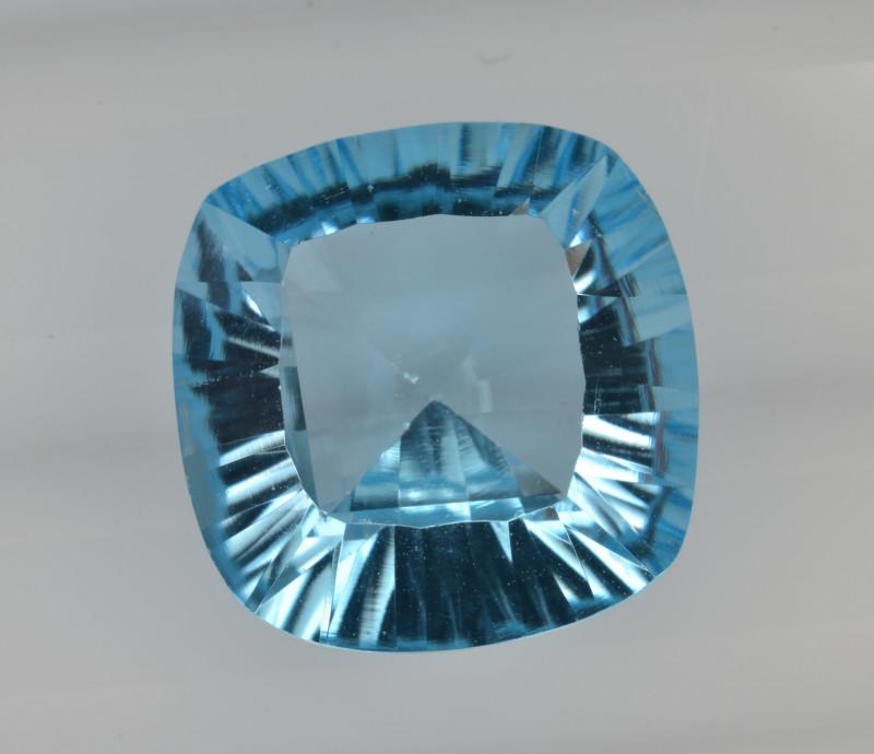 Natural Blue Topaz 7.37 Cts Concave Cut Top Quality.