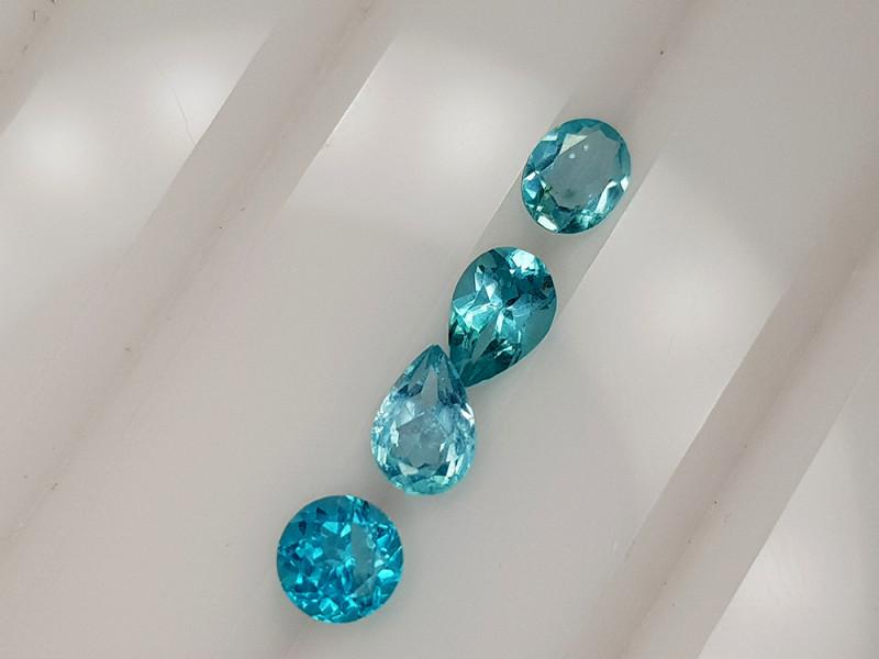 2.25CT NEON BLUE APATITE PARCEL BEST QUALITY GEMSTONE IIGC60