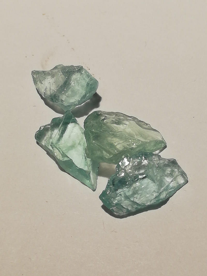 Aquamarine parcel, 10.585ct, rough, the way they were mined!