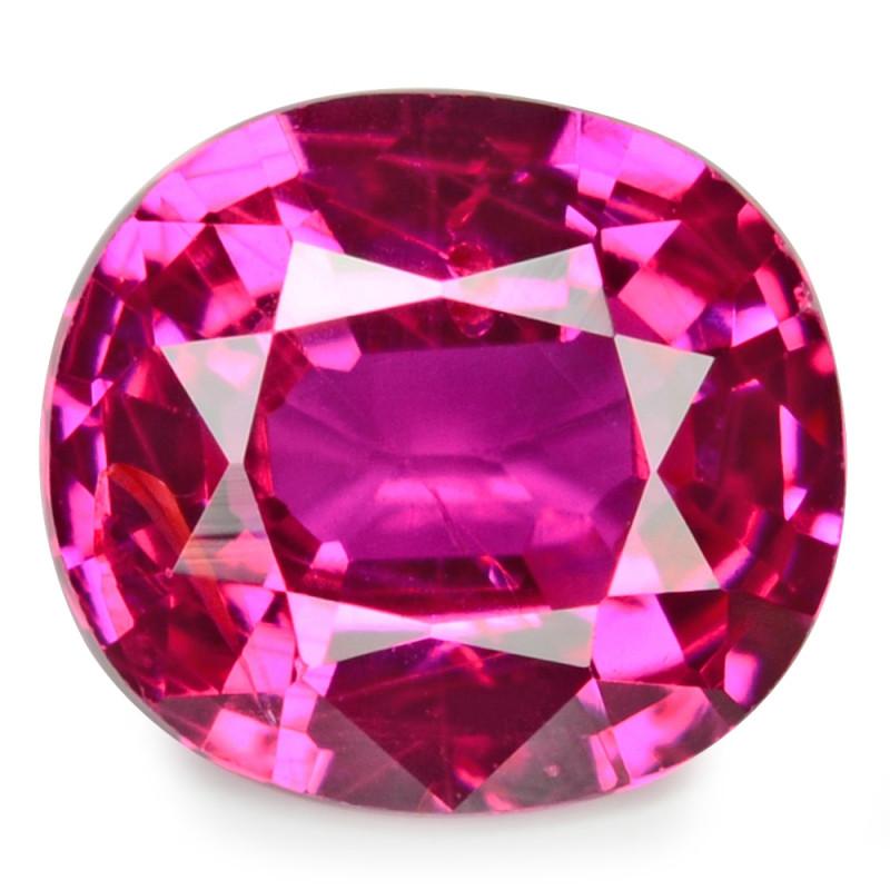 0.33 Cts Un Heated 4.37x2.08 mm Pinkish Red Natural Ruby BURMA Gemston