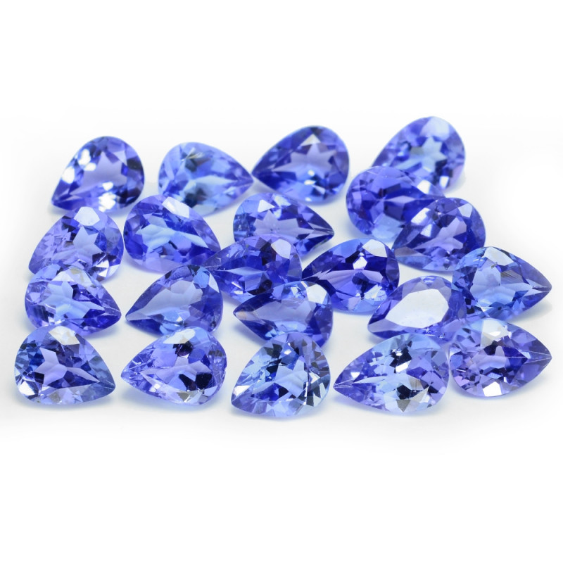 3.24 Cts 21pcs 4x3mm Pear Shape AAA Violet Blue Color Natural Tanzanite Gem