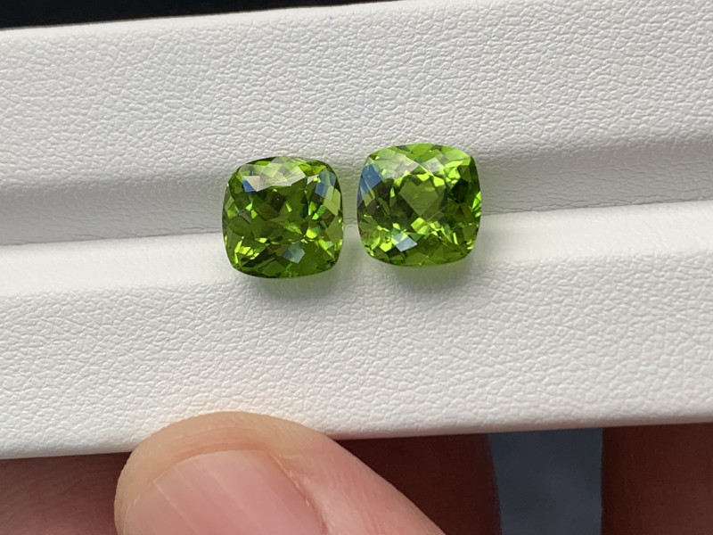 Natural Peridot Matched Pair 8.32 Cts, Pakistan