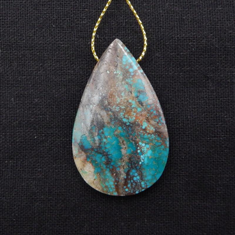 80cts Turquoise Pendant ,Handmade Gemstone ,Turquoise Cabochons ,Lucky Ston