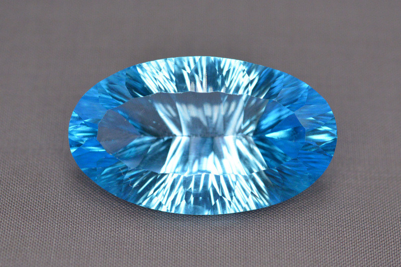 Amazing Laser Cut 49.95 Ct Natural Swiss Blue Color Topaz
