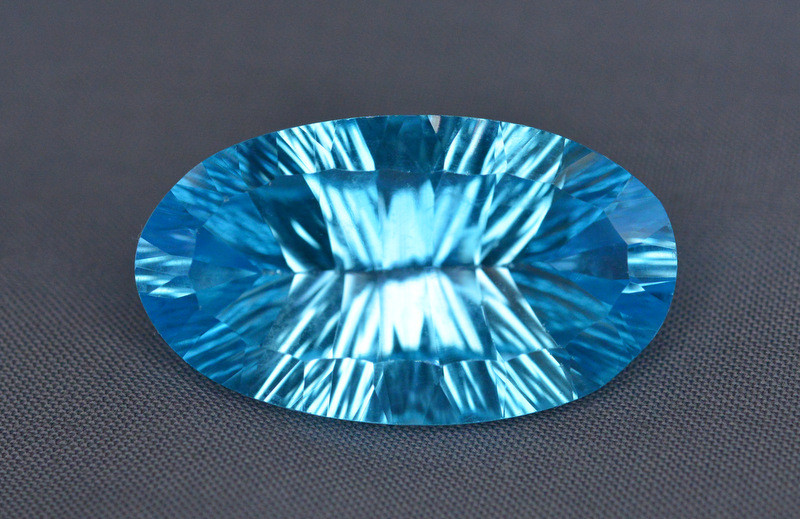 Amazing Laser Cut 27.40  Ct Natural Swiss Blue Color Topaz