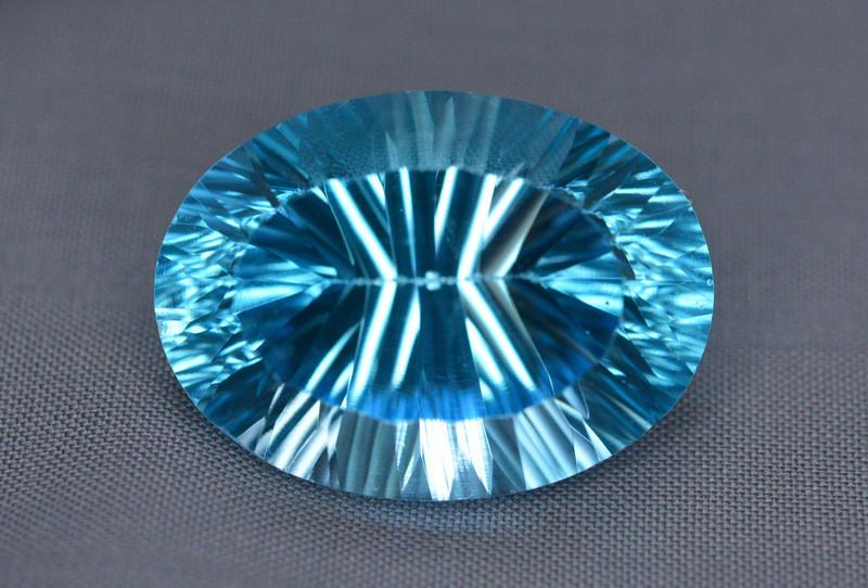 Amazing Laser Cut 30.00 Ct Natural Swiss Blue Color Topaz
