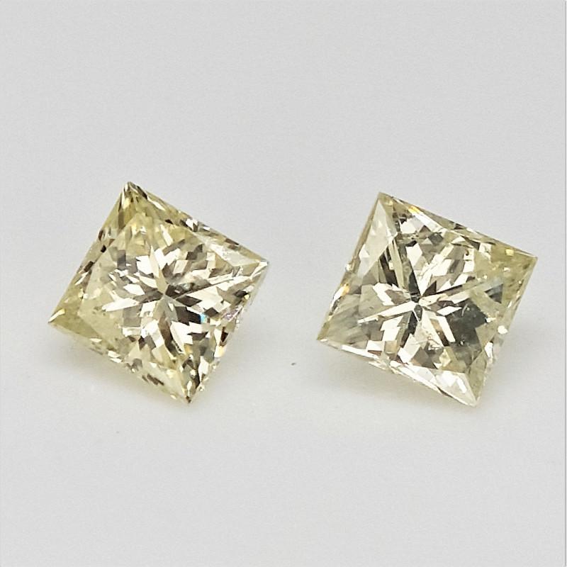 2/0.24 cts , Princess Brilliant Cut , Square Diamonds