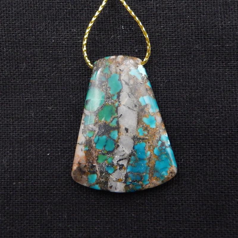 42.5cts Turquoise Pendant ,Handmade Gemstone ,Turquoise Cabochons ,Lucky St