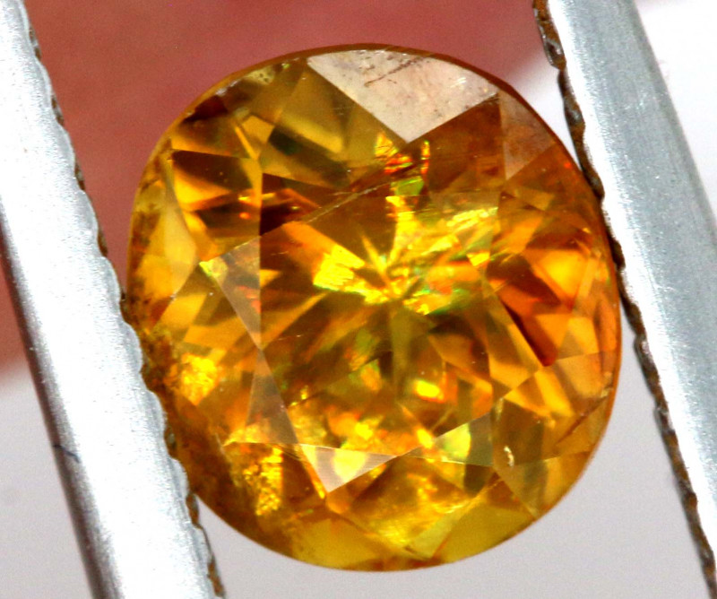 1.10 CTS  GOLDEN YELLOW  TOURMALINE FACETED   PG -329