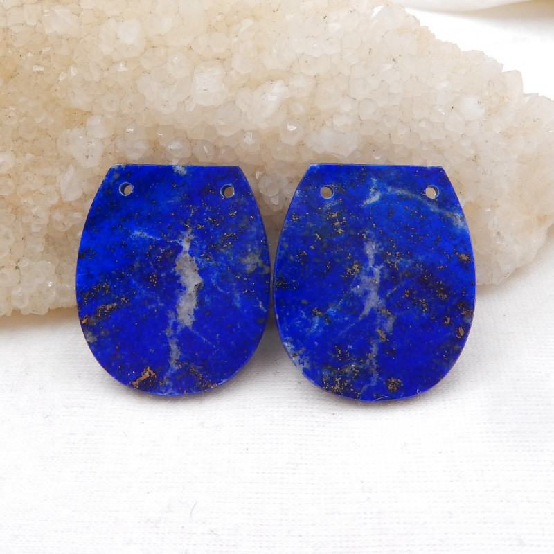 46cts High Quality Lapis Earrings earrings beads, stone for earrings H1110