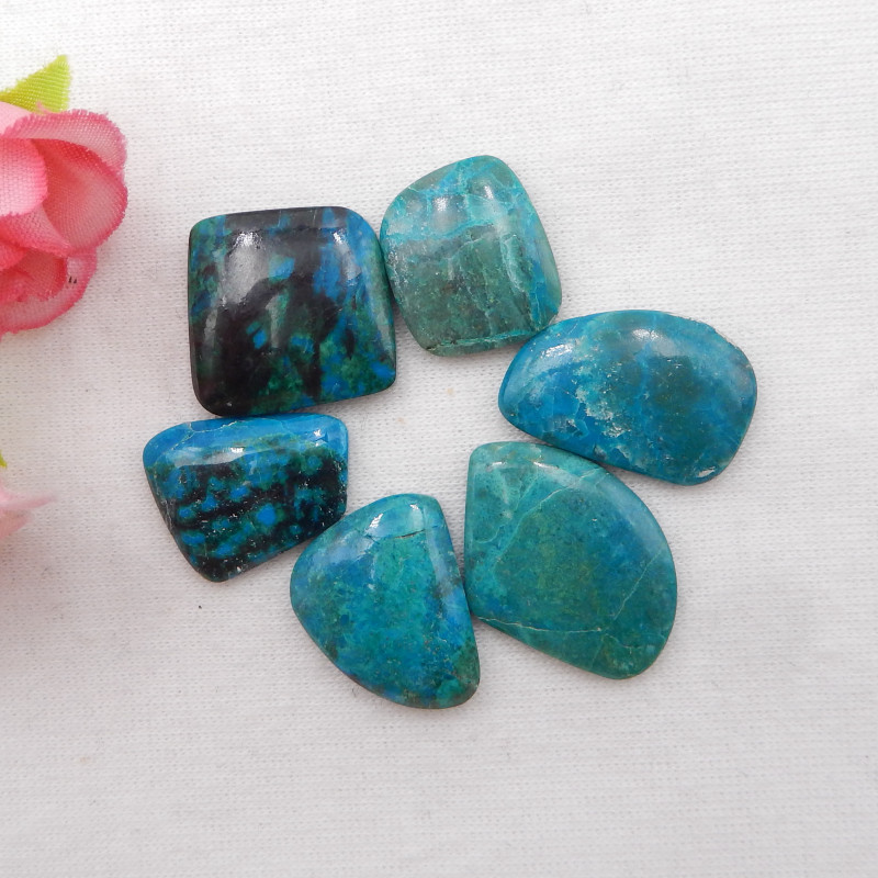 54cts Blue Opal Cabochons, October Birthstone, Blue Opal Cabochons H1130