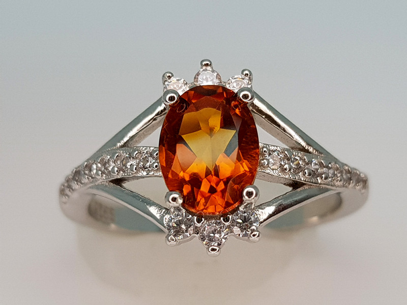 22Crt Mystic Quartz 925 silver 7 Natural Gemstones JI101