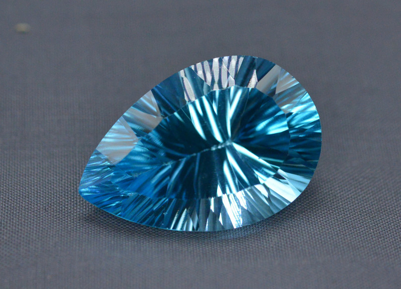 Amazing Laser Cut 27.65 Ct Natural Swiss Blue Color Topaz