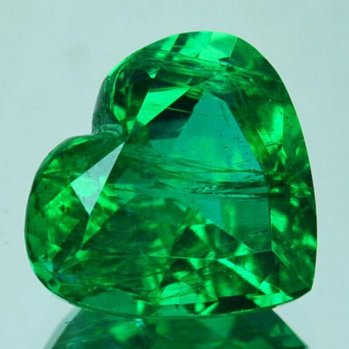 2.61Cts Natural Vivid Green Emerald Heart Cut Zambia