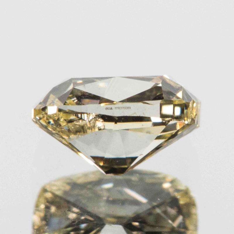GIA certified 0.56ct Natural Fancy Light Yellow Diamond