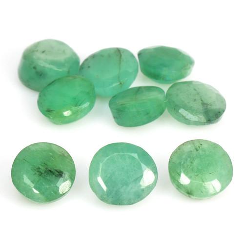 4.10 Cts 9 Pcs Natural Vivid Green Colombian Emerald Loose Gemstone