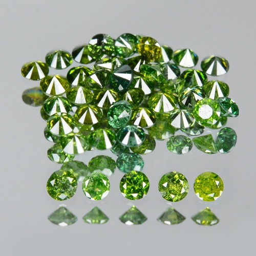 0.43 Cts Sparkling Rare Fancy Green Color Natural Loose Diamond