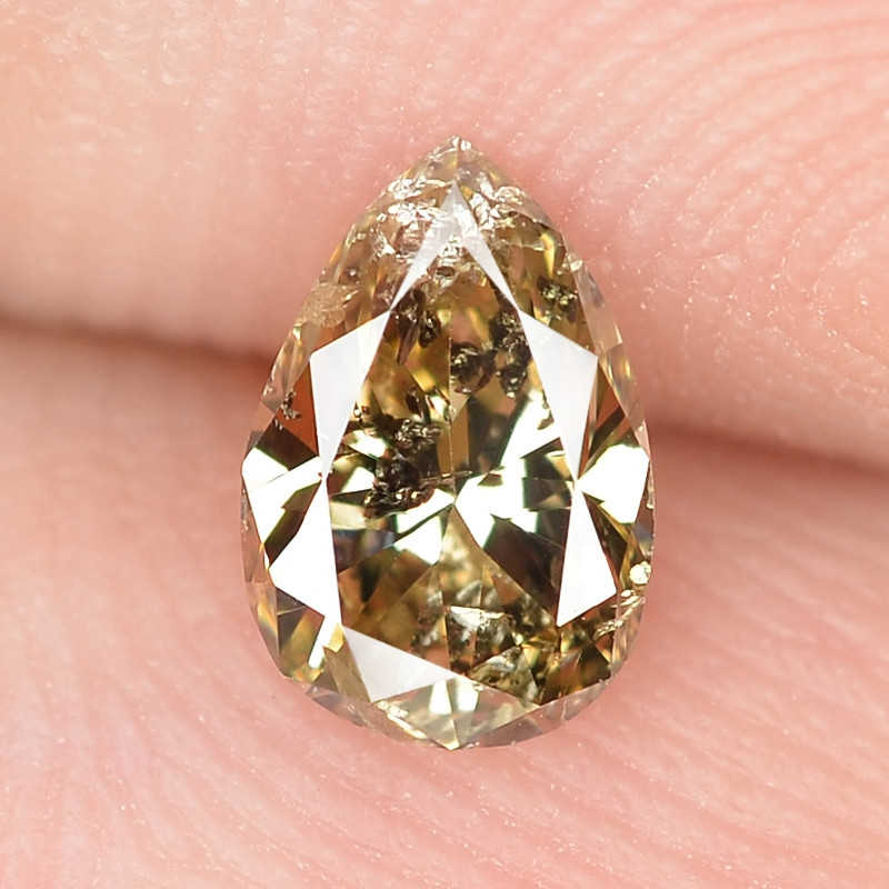 0.37 Cts Untreated Fancy Yellowish Brown Color Natural Loose Diamond