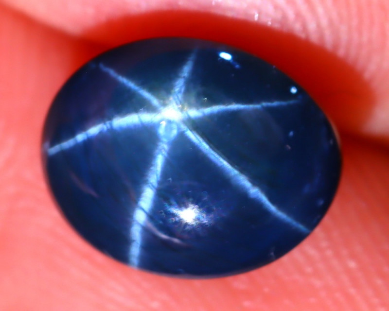 Star Sapphire 3.12Ct Natural 6 Rays Blue Star Sapphire EF1520/A39