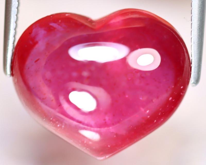 Ruby 13.90Ct Heart Shape Ruby Cabochon Madagascar Pinkish Red Ruby ES1514