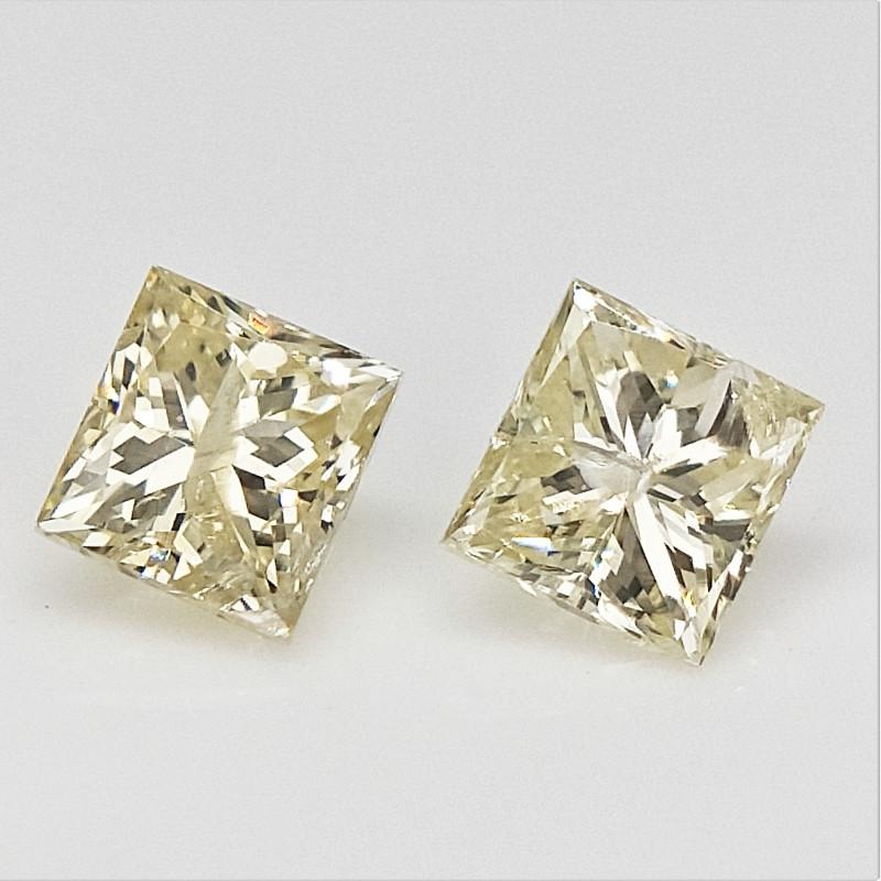 2/0.25 cts , Natural Loose Diamonds , Square Cut Diamond