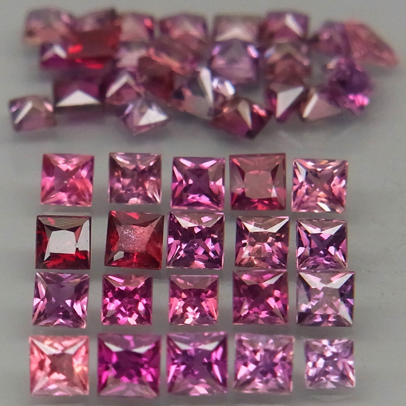 3.81Ct./45Pcs/ 2-2.5 mm.UNHEATED! Fancy Color Sapphire Songea,Africa