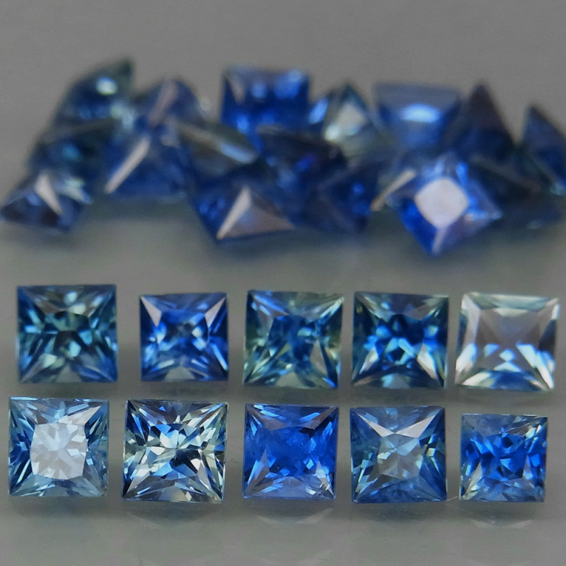 5.22Ct./25Pcs/ 2.7 - 3.2 mm Cornflower Blue Natural Earth Mined  Sapphire