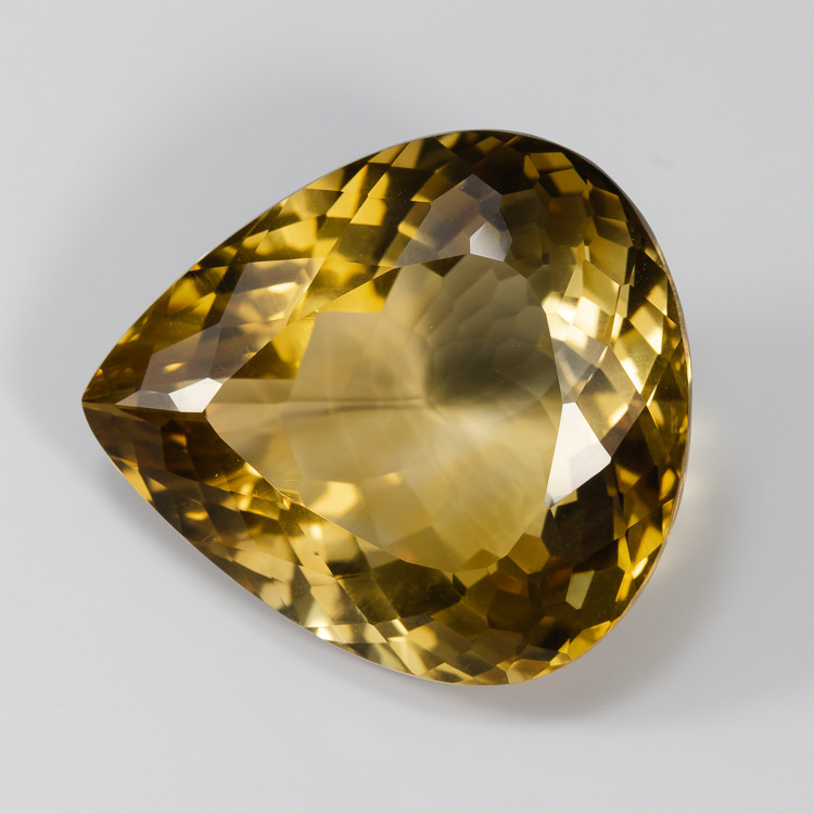 75.32ct Lab Certified Pear Shaped Natural Citrine
