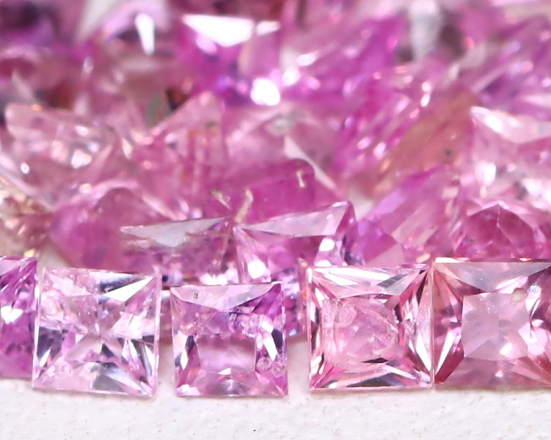 3.49Ct Princess Natural Untreated Pink Color Sapphire Lot B6206