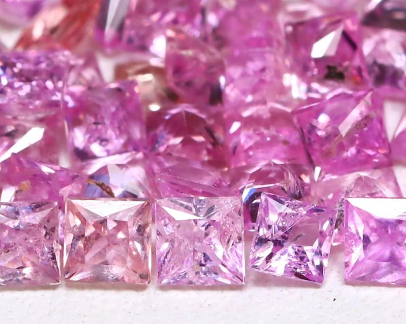 3.90Ct Princess Natural Untreated Pink Color Sapphire Lot B6207