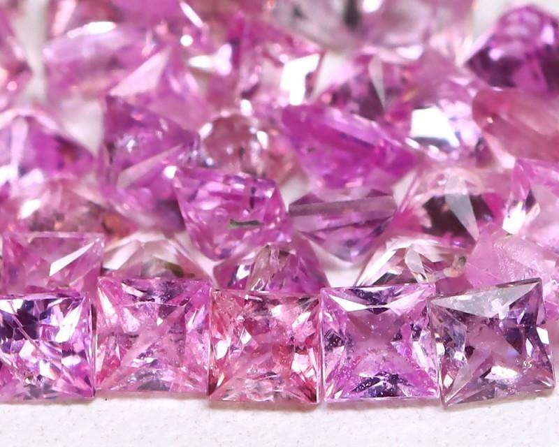 3.86Ct Princess Natural Untreated Pink Color Sapphire Lot B6208