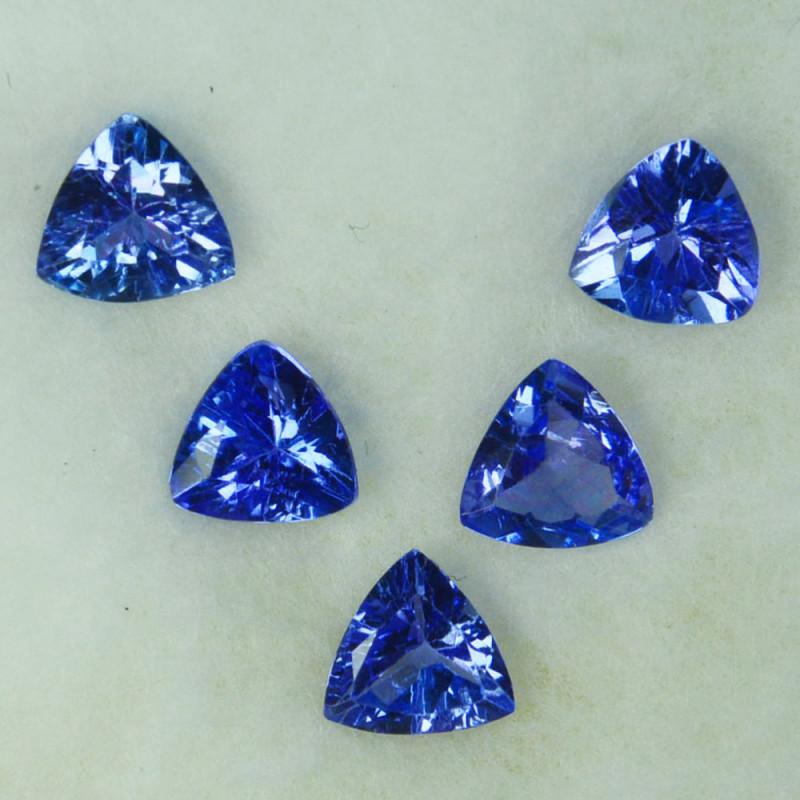 2.00Cts Natural Purple Blue Tanzanite 5mm Trillion 5Pcs Tanzania