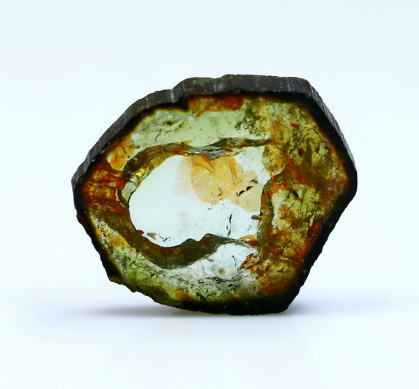 NR!!!! 14.80 Cts Natural - Unheated Green Tourmaline Slice
