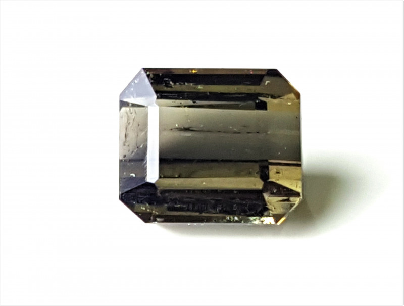 3.5Cts Natural Grey Color Pretty  Emerald Cut Tourmaline 3.5Cts-Afg