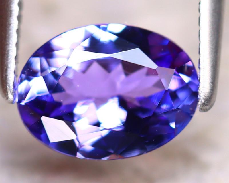Tanzanite 1.21Ct Natural VVS Purplish Blue Tanzanite D2017/D3