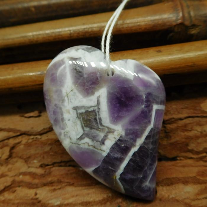 Heart shape amethyst pendant (G2543)
