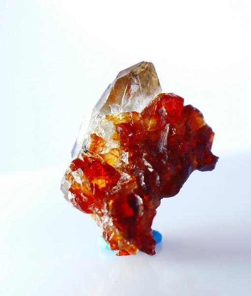 19.50 CT Natural - Unheated Orange Garnet Var Quartz Specimen